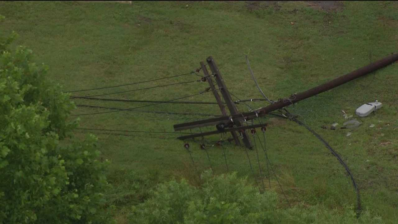 Damage from another round of bad storms Tuesday, which socked Anne Arundel County.
