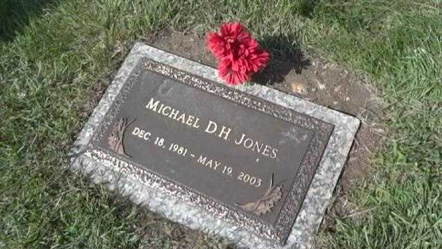 Michael Jones' grave plot