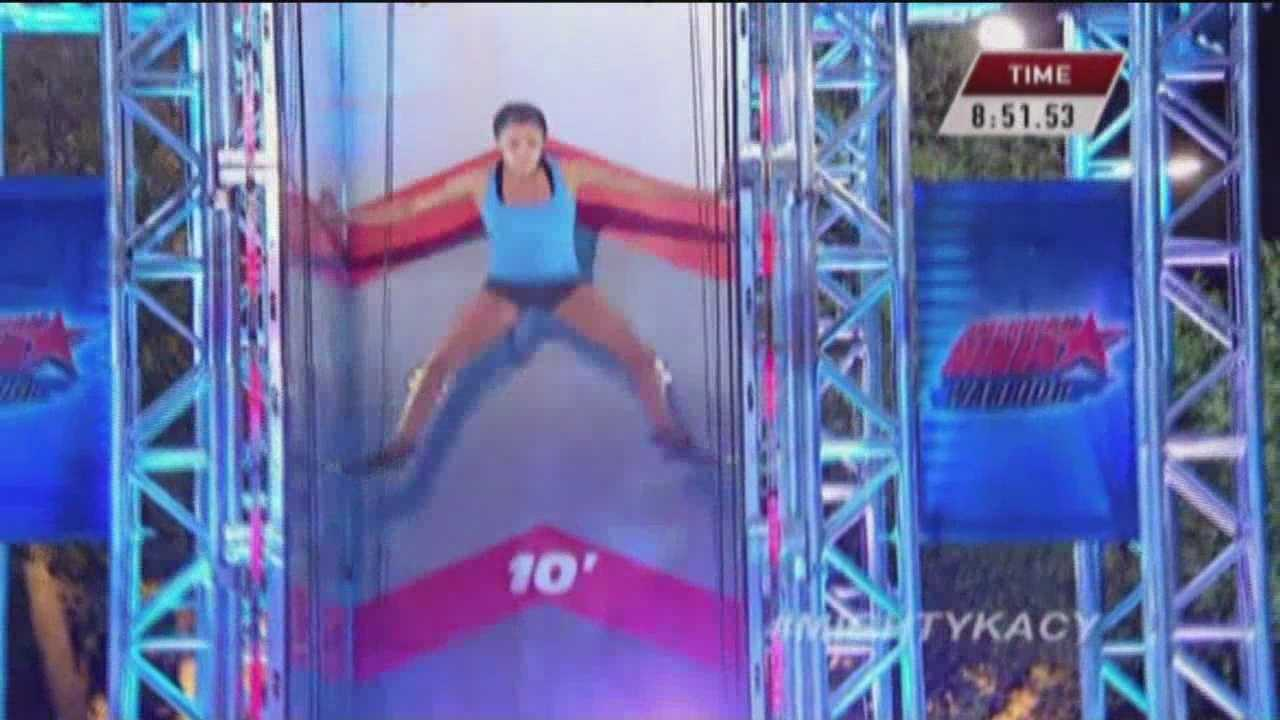 "Kacy Catanzaro, a Towson University alum, has become the first female contestant to ever qualify for the final round on NBC's ""American Ninja Warrior."""