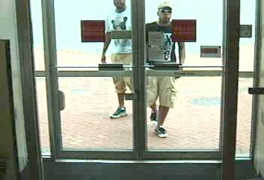 Authorities are trying to identify three men they believe may be involved in a bank robbery and an attempted bank robbery in Baltimore.