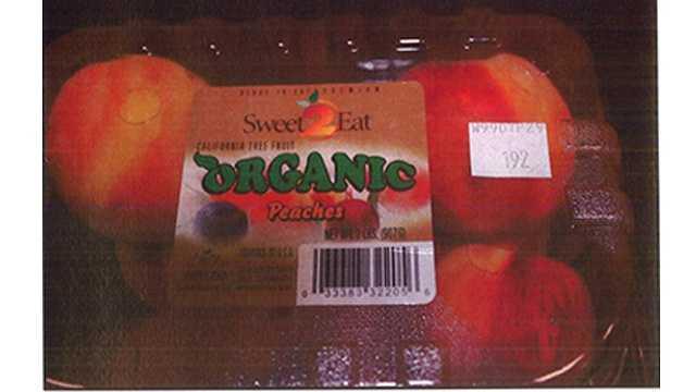Organic peach recall