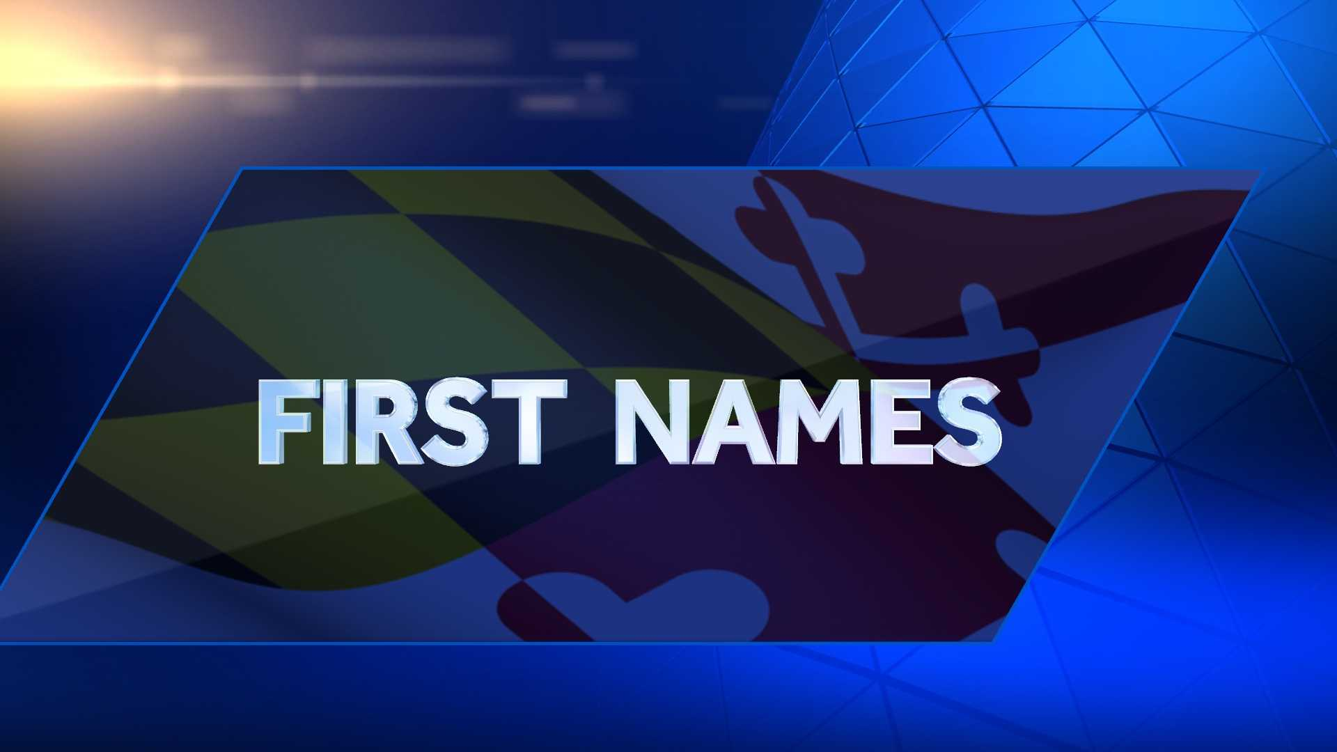 WhitePages has compiled the most popular first names in Maryland.