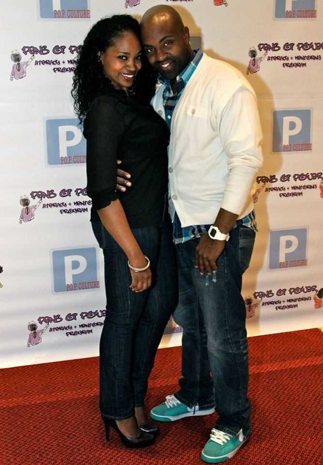 Kel Spencer pictured here with his fiance at a Pens of Power event.