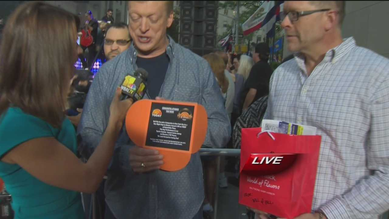 """Will and Bill from Federal Hill won """"The Today Show"""" treasure hunt in Baltimore last month, so they got to pick a Summer Concert Series to see in New York City."""