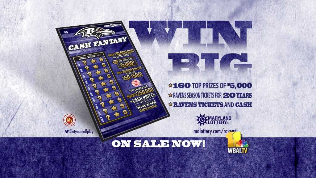 Ravens Cash Fantasy scratch-off ticket