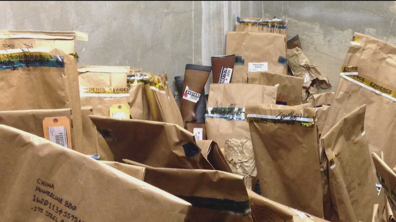 Pictures taken over the past two years inside the Baltimore Police Department's evidence control division show some shelves collapsed under the weight of the evidence stuffed on them, their contents piled up in a heap.