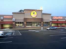 A new ShopRite supermarket opens in Baltimore's Howard Park neighborhood on Liberty Heights Avenue.