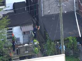 SkyTeam 11 Capt. Roy Taylor said officers may have captured the man trying to break into a building.