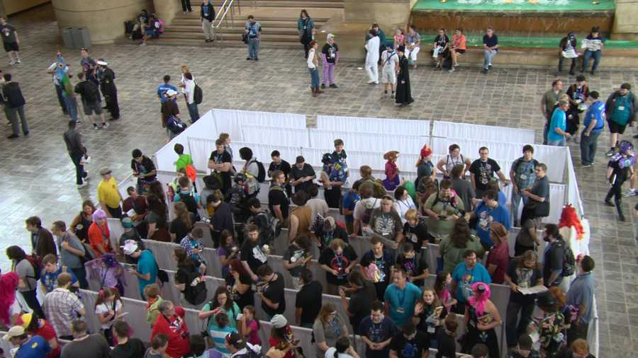 Bronycon started out as a one-day convention of about 100 people, but it's since turned into a three-day event that brings in around 8,000 people and has hosted panels, along with games and concerts.
