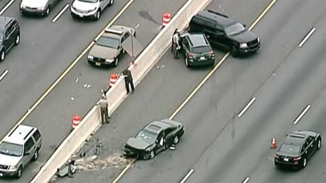 state police crash on Capital Beltway