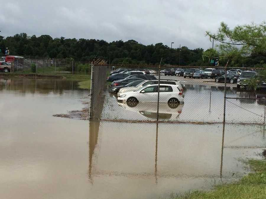 BWI-Marshall long-term parking lots flooded