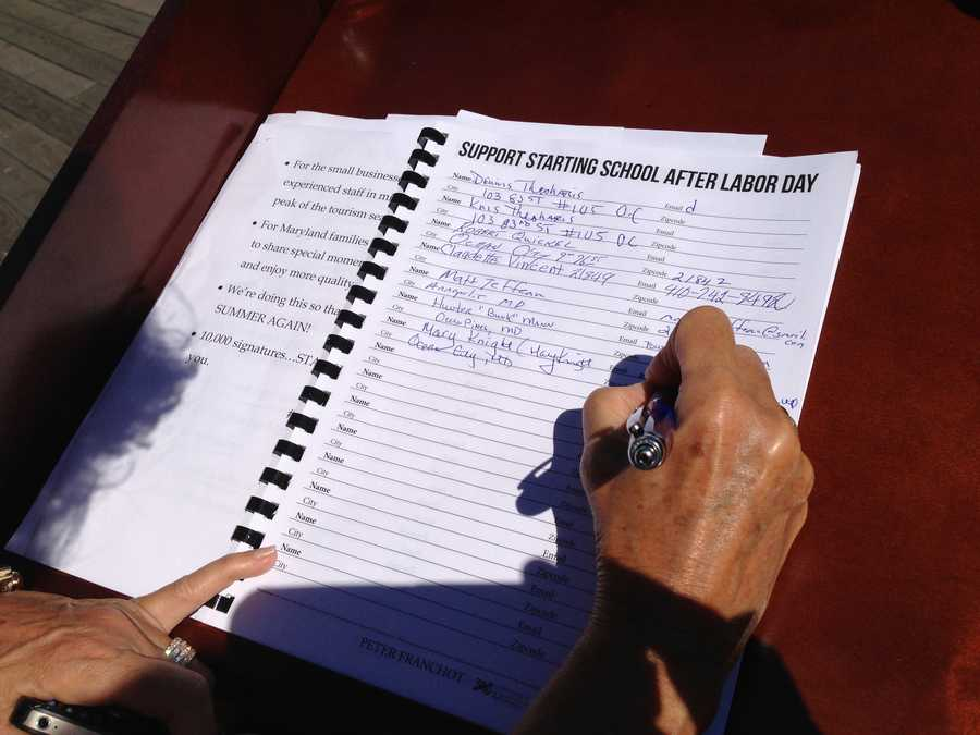 Maryland Comptroller Peter Franchot and several other state officials on Thursday kicked off a petition drive in Ocean City in support of a campaign to move the start of the school year to after Labor Day.