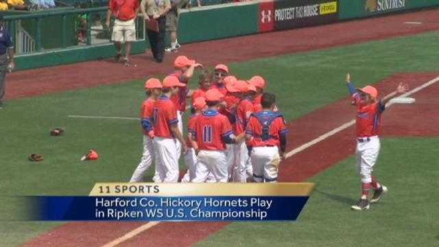 The Harford County Hickory Hornets beat a team from Prince George's County at the Cal Ripken World Series.  They'll now play for the U.S. Championship.