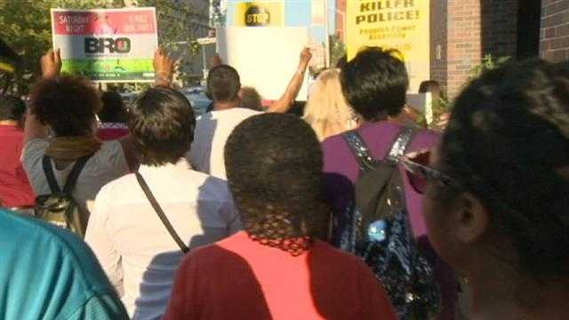Demonstrators in Baltimore wanted Brown's family and the protesters in Ferguson to know that they stand with them in solidarity.