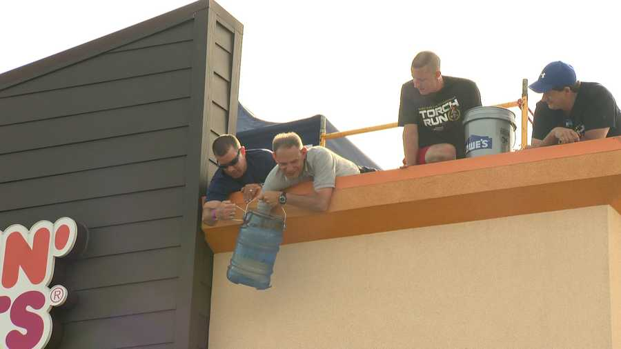 The rooftop participants even helped one person with her ALS ice bucket challenge.