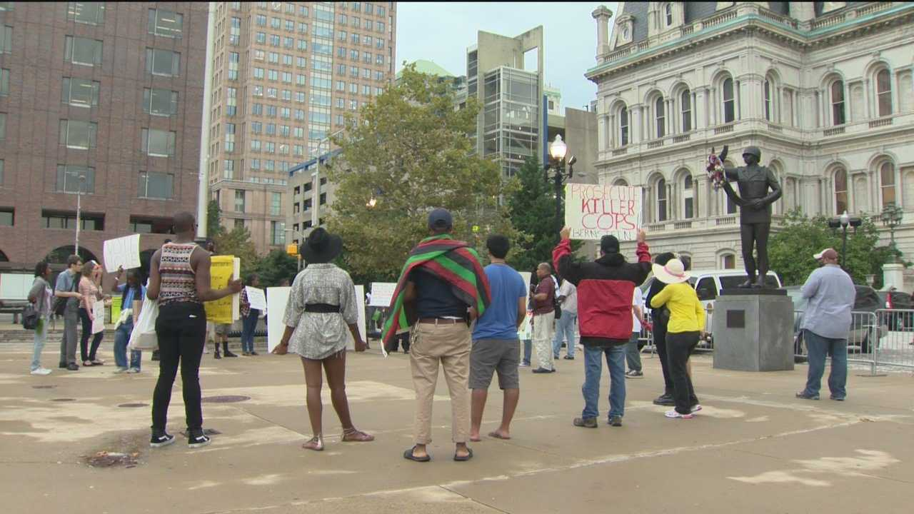 Protesters rally for Michael Brown, Tyrone West