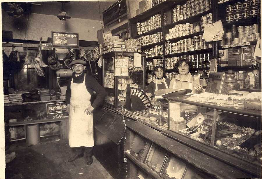Deborah's favorite thing about Baltimore is that it was the landing spot for her grandfather from Poland. Here he is at his grocery store, which was located on Gold Street.