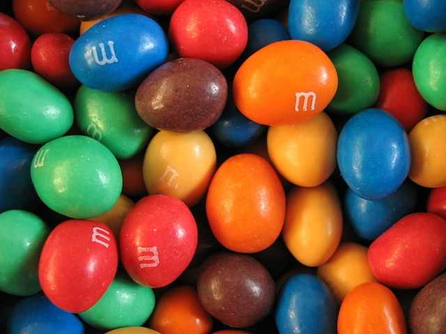 Deborah's favorite candy ispeanut M&Ms.