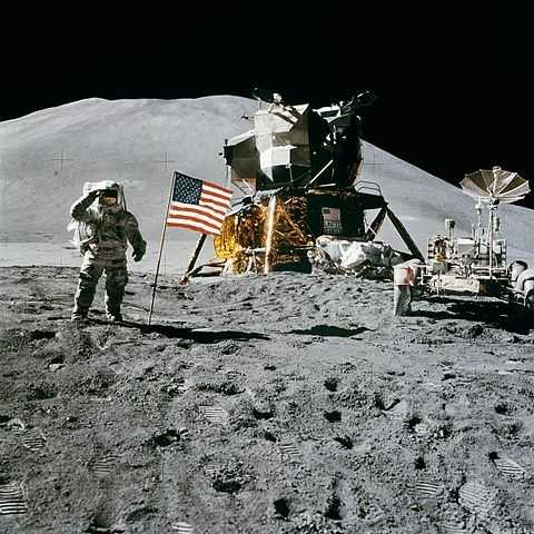 Deborah's first childhood memory is watching the moon landing on her parents' black-and-white console television set.