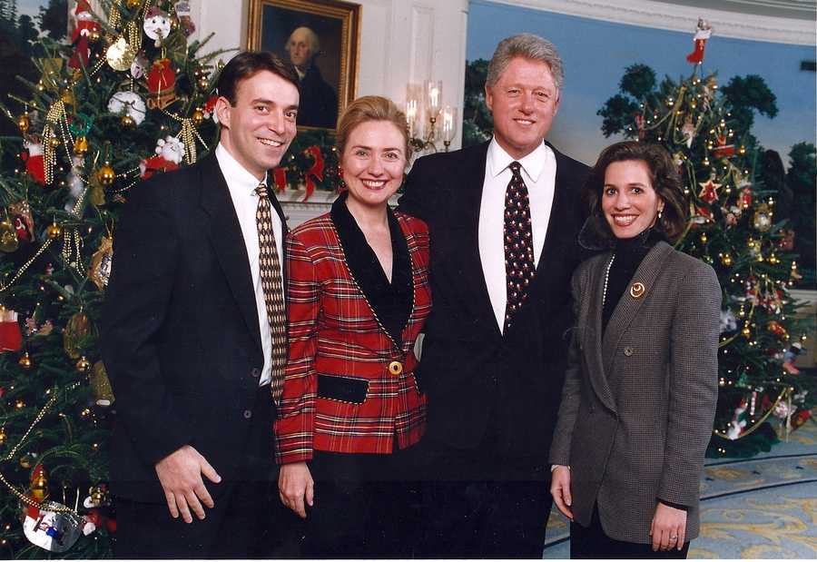 Perhaps the best holiday party ever was attending the White House Christmas Party in 1996.