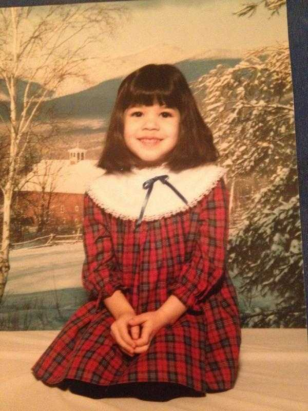 Kim Dacey shows off this snow-touched photo from her elementary school days.