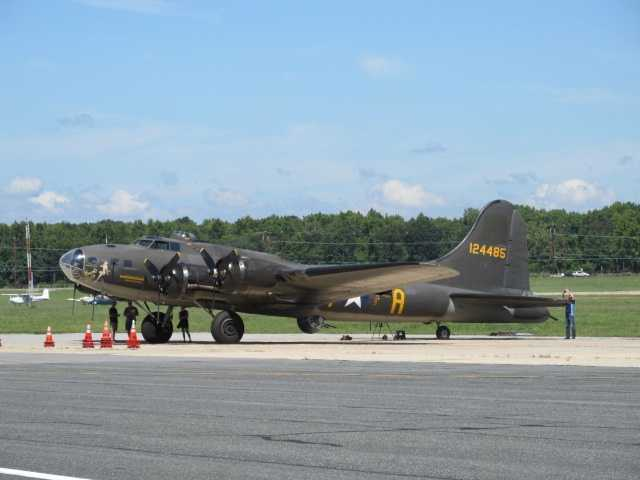 One of the last remaining B-17 bombers from World War II will be on display for free ground tours and paid flights this weekend at Martin State Airport in Middle River.