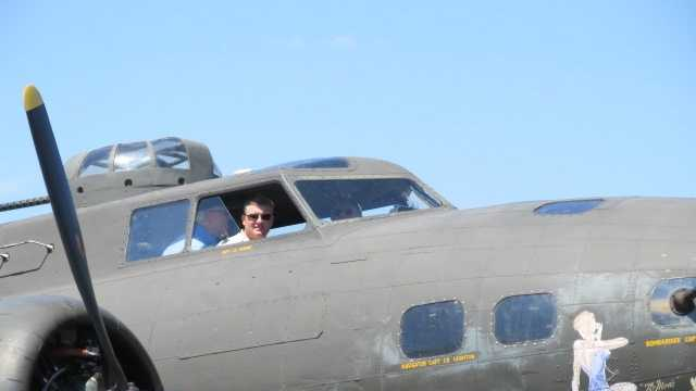 The Movie Memphis Belle is the B-17 that visitors can explore at Martin State Airport. Made in April 1945 and never used for combat, it's one of the few B-17s left that can still take to the sky.