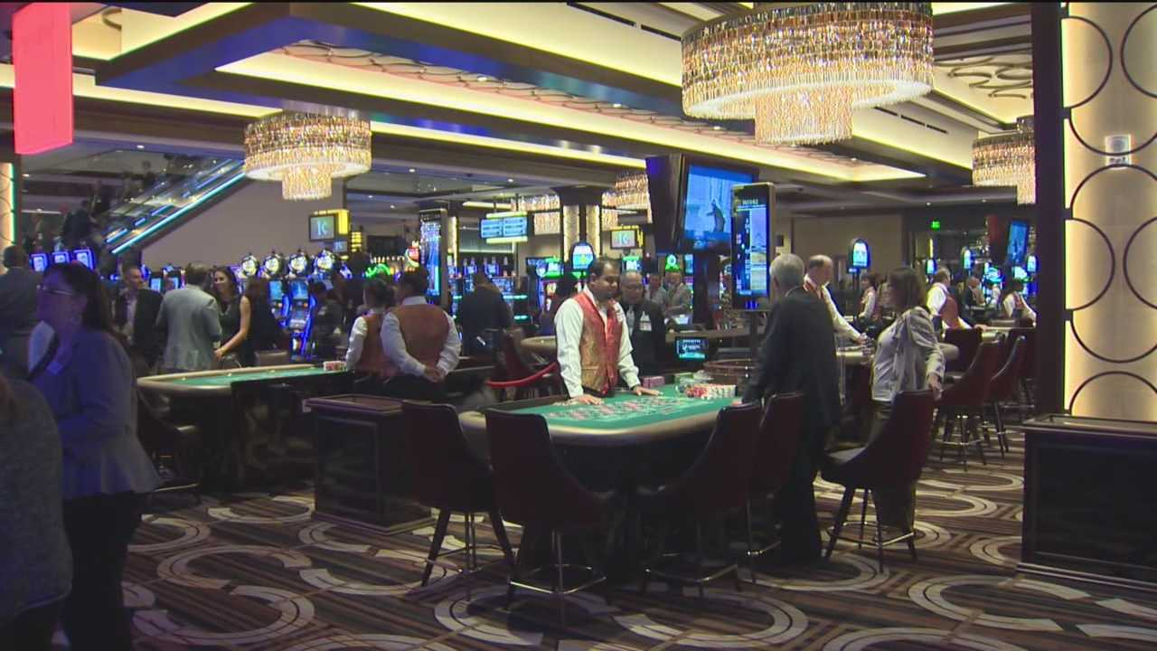 Tuesday night's grand opening of the Horseshoe Casino was in the thousands at times bumping the casino to full capacity.