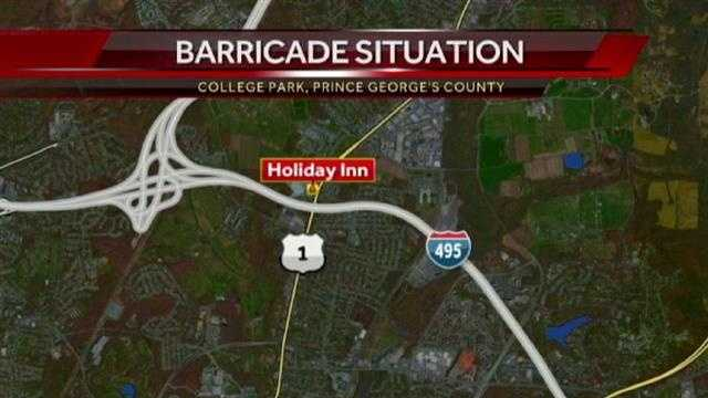 College Park barricade situation