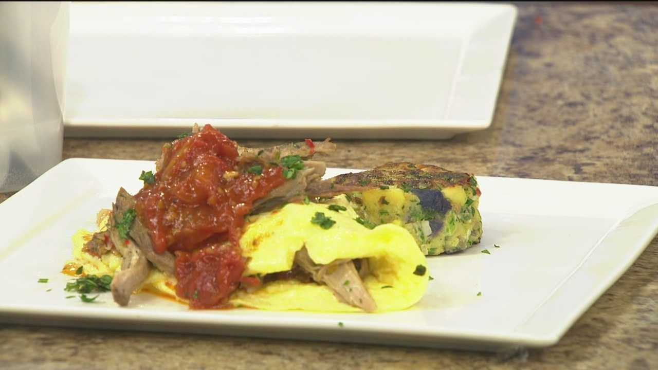 Chef Carlos Gomez of Apropoe's Restaurant shares his gourmet omelette recipe.
