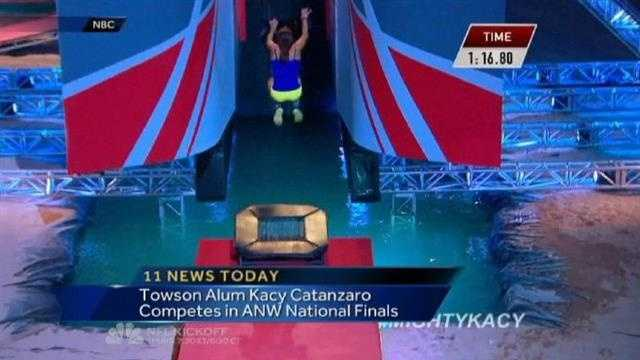 Kacy Catanzaro competes in ANW finals