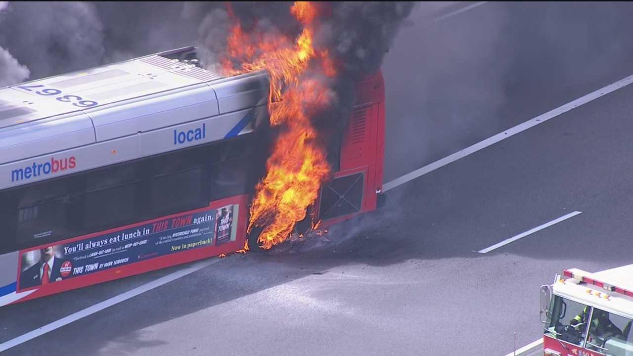 I-95 bus fire