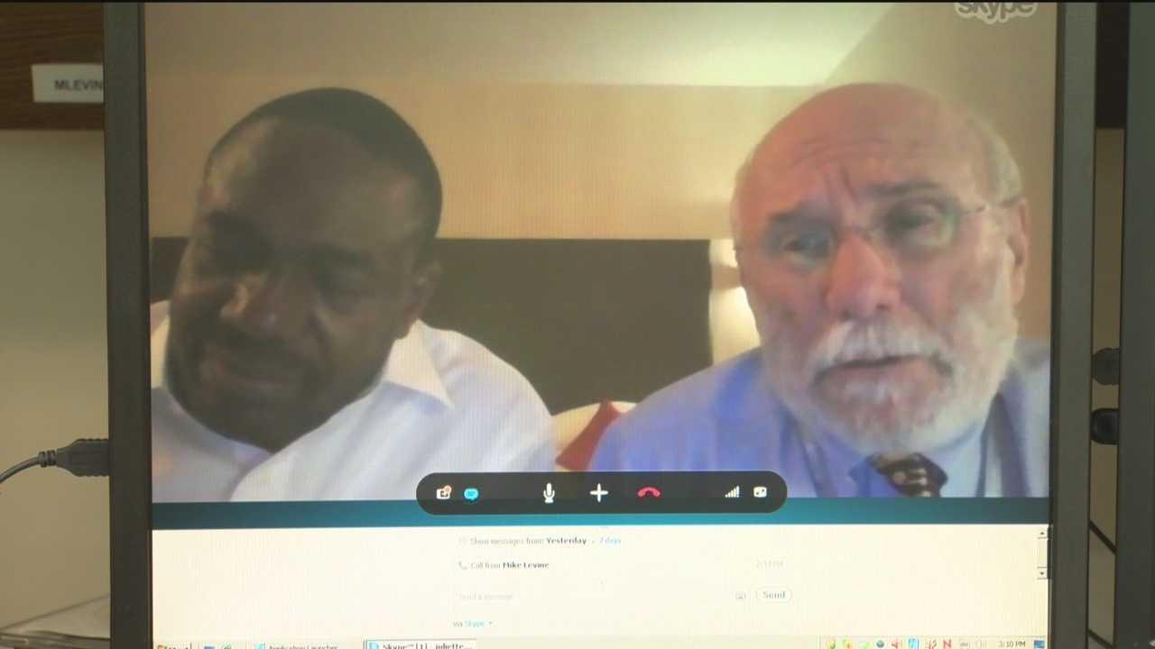 Samba Sow, Dr. Myron Levine via Skype from Geneva, Switzerland.