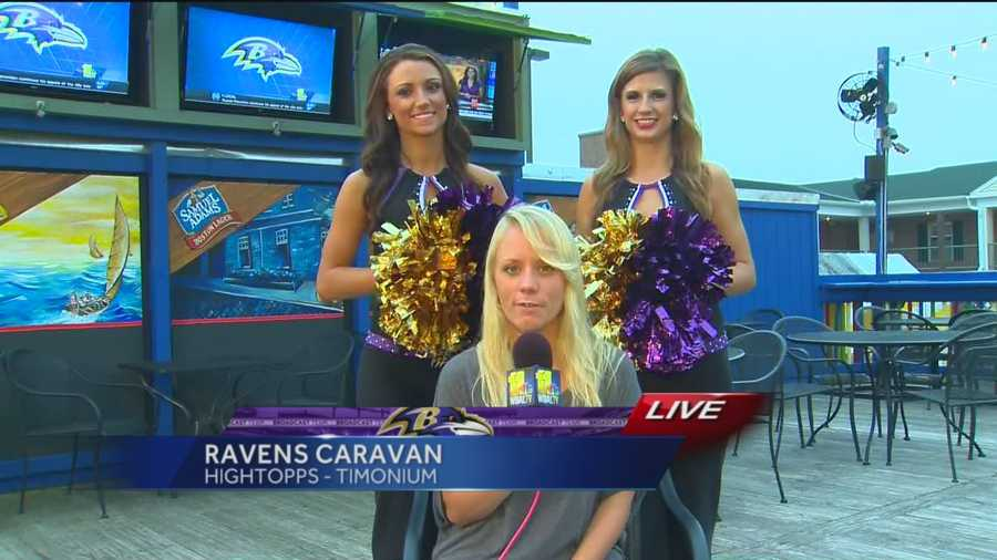 It's the first Purple Friday of the NFL season, and since the Ravens play Sunday, the Ravens Purple Caravan is already under way at Hightopps Bar & Grille in Timonium.