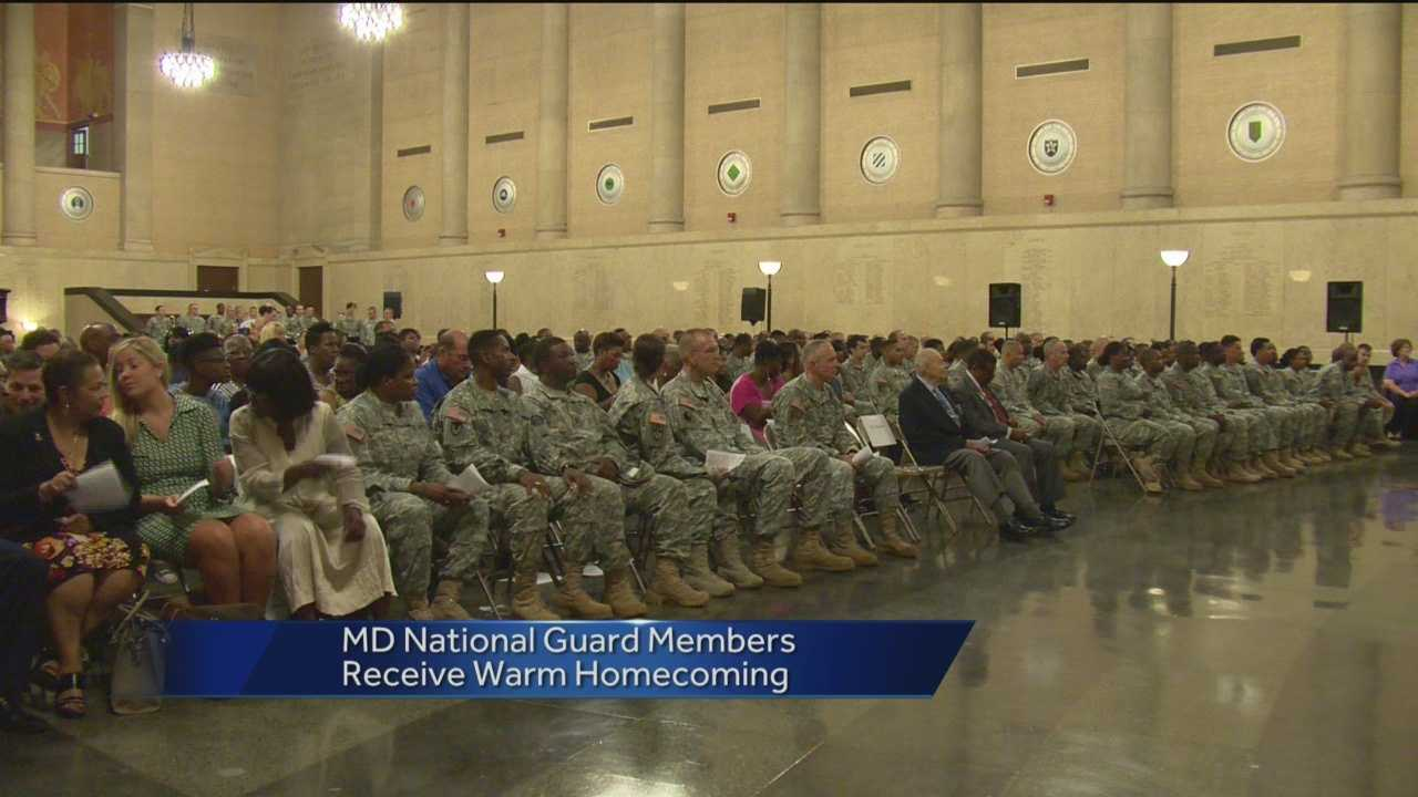Maryland National Guard members return home from Afghanistan.