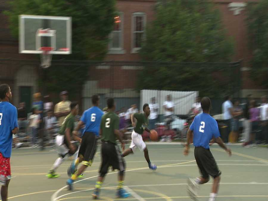 The Baltimore City Department of Recreation and Parks marked the conclusion of its B'More Night Hoops Basketball League on Sunday night with championship games and a huge block party.
