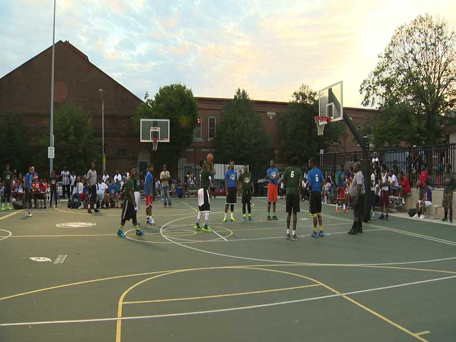The Night Hoops program started as something to keep children and teens busy on school nights, but the mayor said that the summertime expansion has been a big hit.