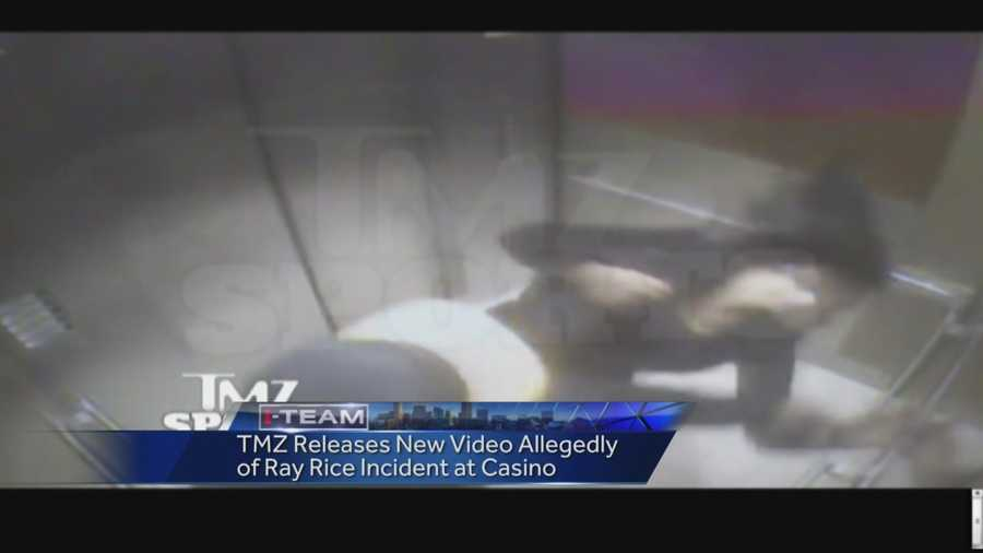 Video showing Baltimore Ravens running back Ray Rice hitting his then-fiancee inside an Atlantic City, New Jersey, casino elevator has been posted online.