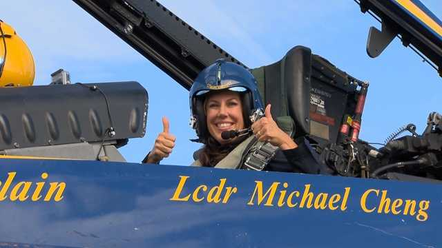 WBAL-TV 11 News reporter Jennifer Franciotti flies with the Blue Angels: See her report here