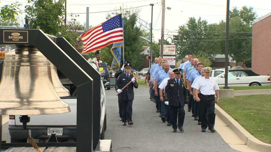 In Parkville, a bell-ringing remembrance ceremony was held Thursday morning.