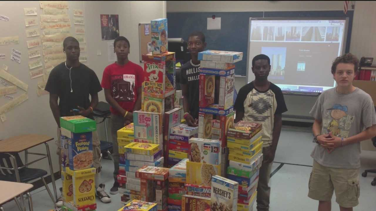 Meade Senior High School students collected thousands of pounds of food for the hungry.