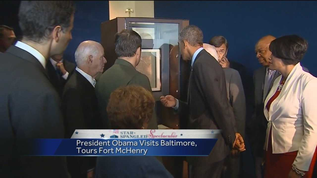 Ranger Vincent Vaise, of the National Park Service, tells 11 News about the presidential visit to Fort McHenry in Baltimore.
