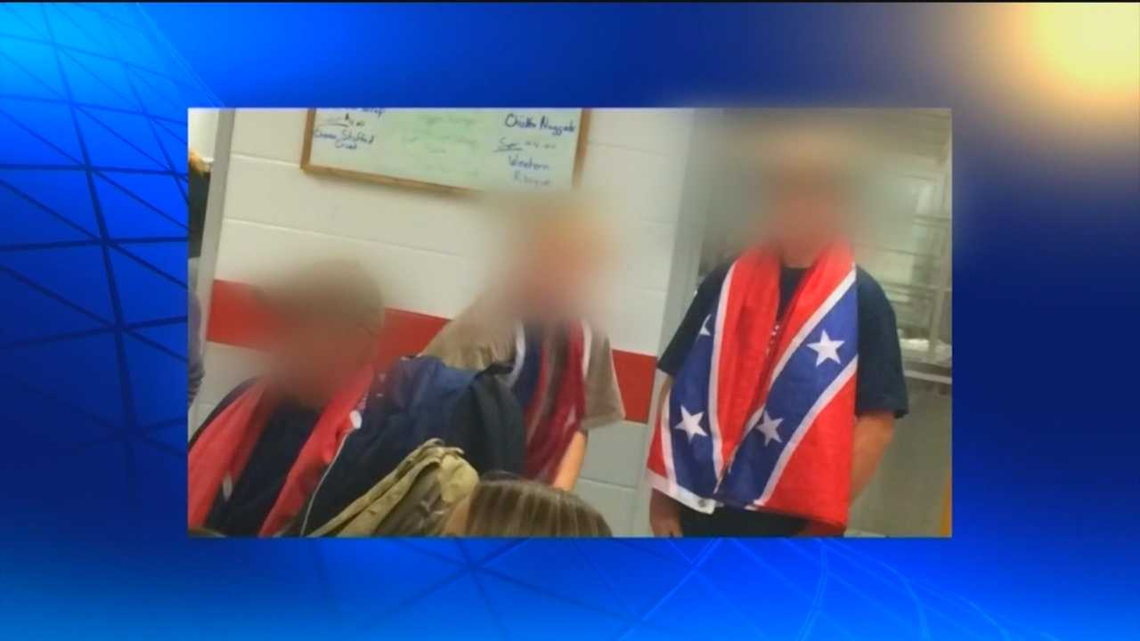 Officials have disciplined three Glenelg High School students for displaying the confederate flag, which lead to a rally to unite the community.