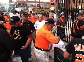 Sept. 16: A big, early-arriving crowd for the game with the magic number at 1.