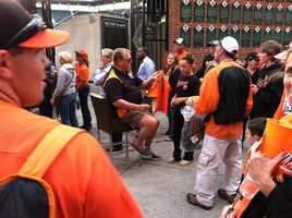 Sept. 16: Fans get a chance to meet former Orioles slugger Boog Powell as they get ready to eat some BBQ.