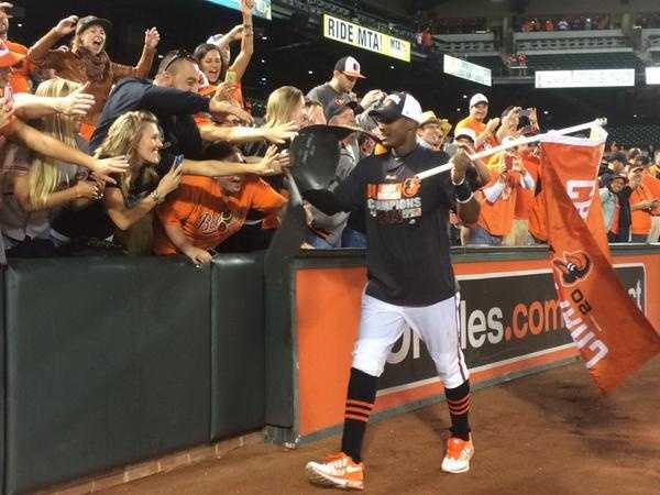 Sept. 16: Adam Jones victory lap