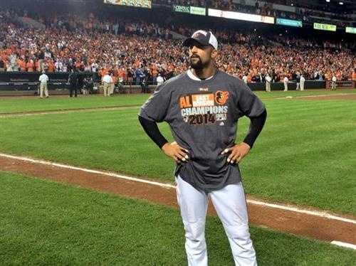 Sept. 16: Nick Markakis takes it all in