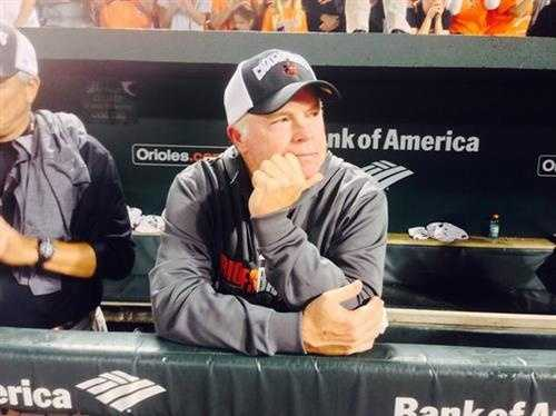 Sept. 16: AL East Champion Manager Buck Showalter soaks it all in