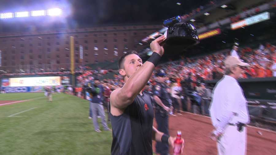 The players even took video of the celebration to soak in the fun on their big night.