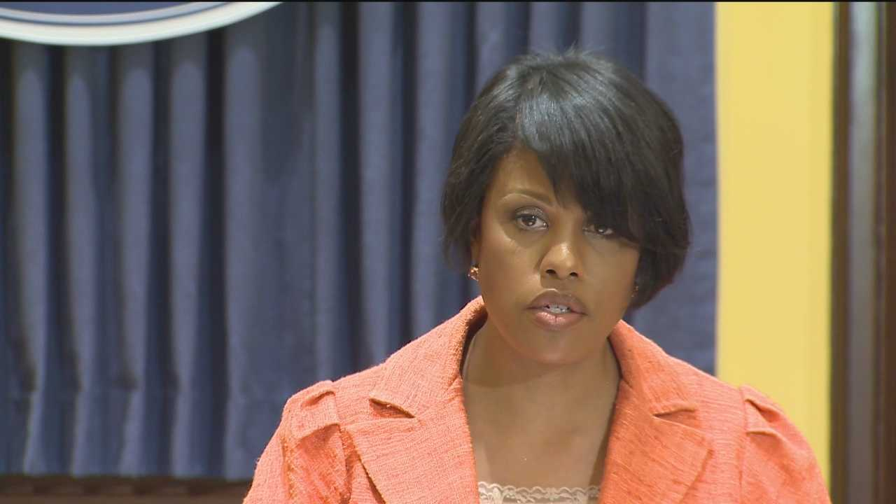 Mayor Stephanie Rawlings-Blake on Wednesday added strong criticism of a city police officer who was caught on tape beating a suspect.